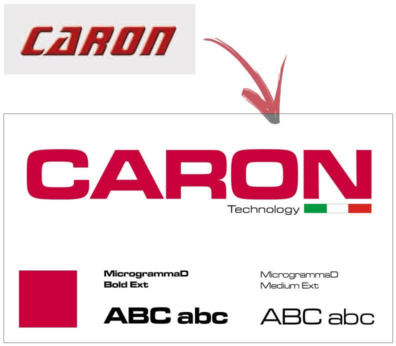 Restyling Logo CARON