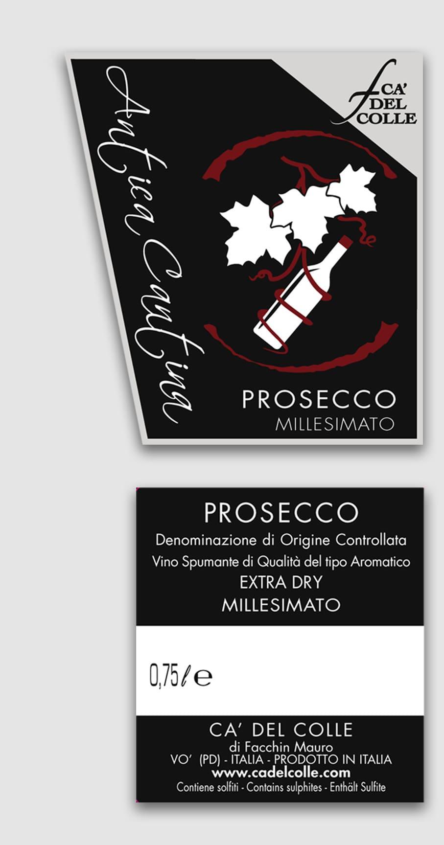 Etichetta Prosecco Antica Cantina Veneta