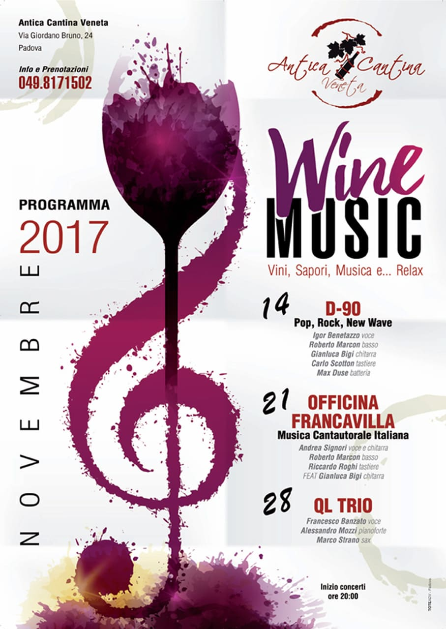 Locandina Eventi 2017 Antica Cantina Veneta