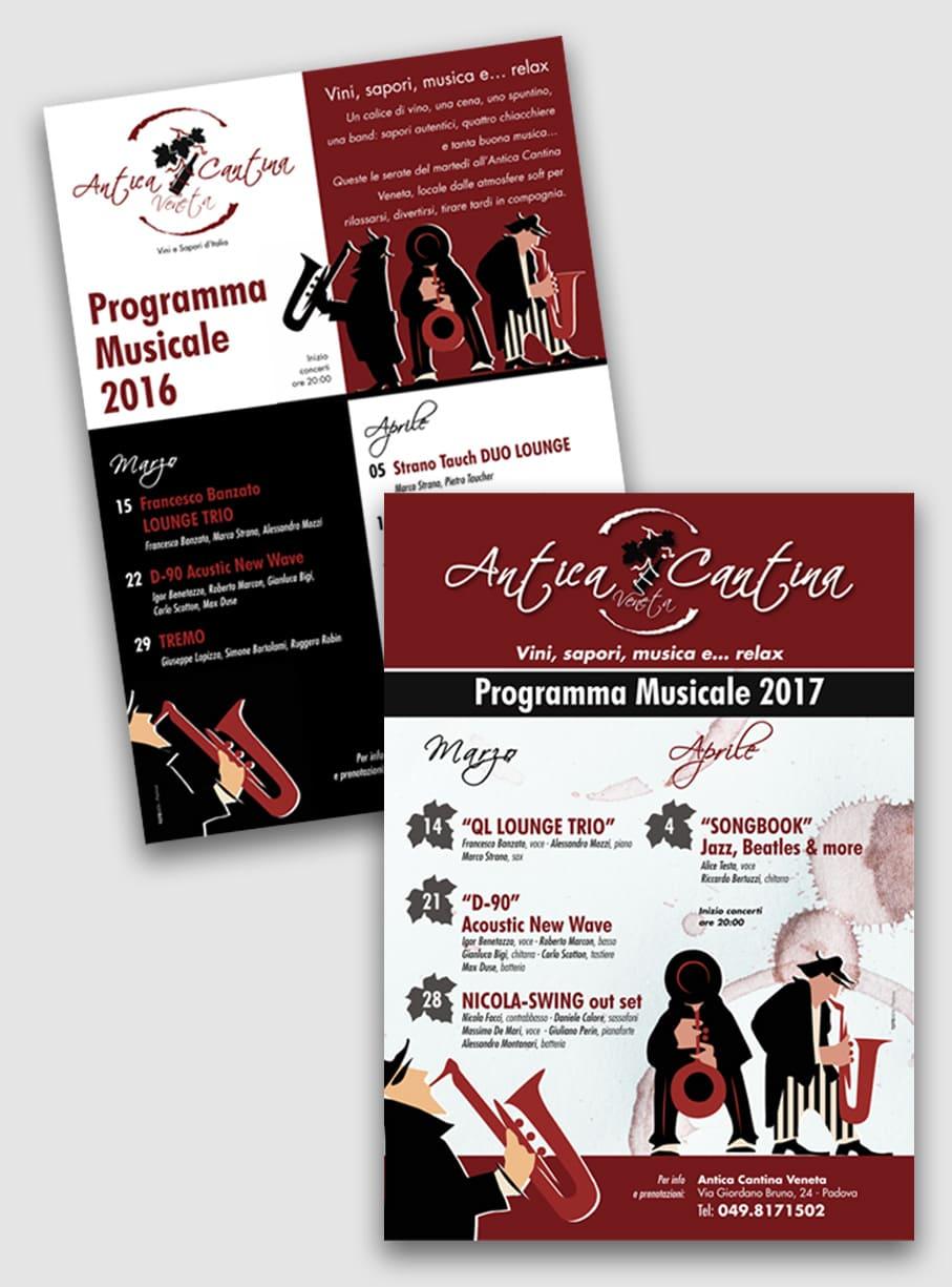 Locandina Eventi 2016 Programma Musicale 2017 Antica Cantina Veneta