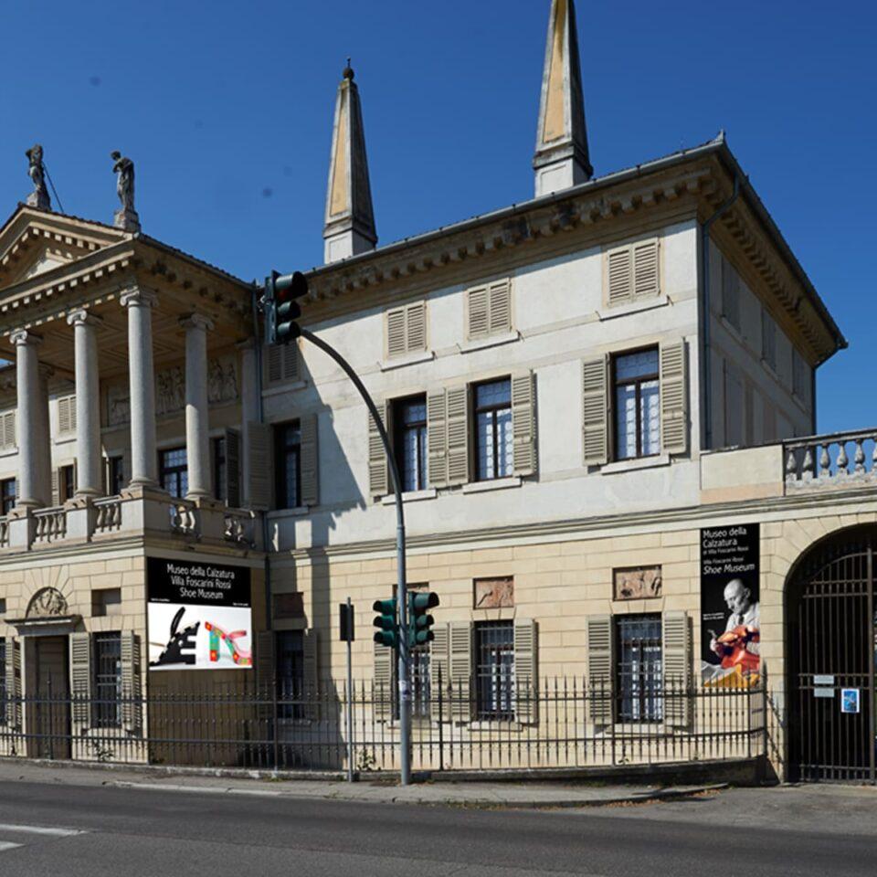 Banner esterni Museo della Calzatura Villa Foscarini Rossi