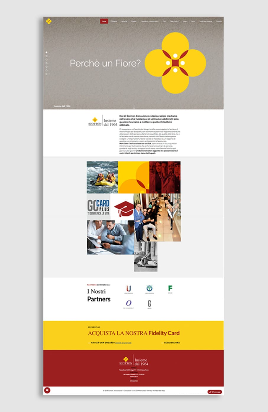 Homepage sito Scotton Assicurazioni