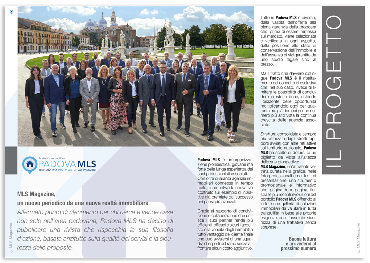 Padova MLS Magazine redazionale
